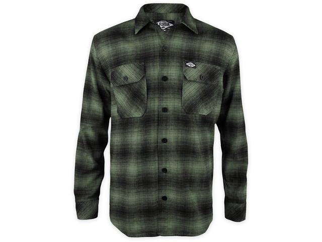 Loose Riders LS Flannel Shirt Men, verde/negro